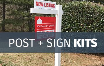 real estate sign posts vinyl for sale yard sign posts